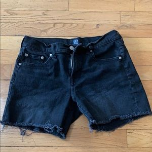 Black denim gap jean shorts